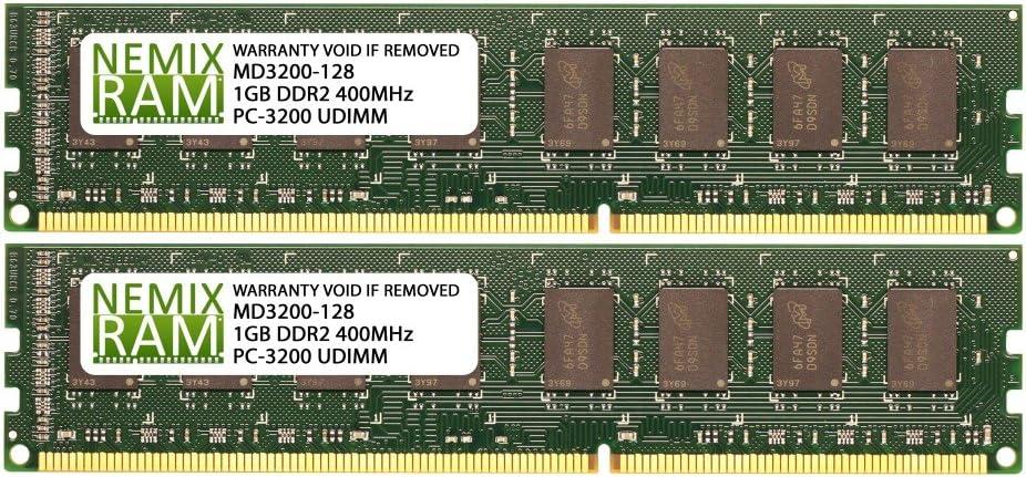 2GB (2 X 1GB) DDR 400MHz PC3200 184-pin Memory RAM DIMM for Desktop PC