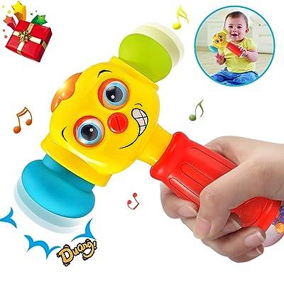 ACTRINIC Baby Toys Martillo de Juguete Ligero y bebés de 12 a 18 Meses hasta | Juguetes Divertidos para bebés Juguetes Infantiles Intercambiables para niños pequeños con Martillo por 1 año +: Juguetes y juegos