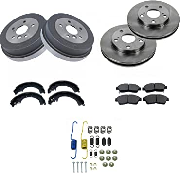 Front Brake Rotors /& Ceramic Pads for 1992 1993-2001 Toyota Camry 4-Cylinder