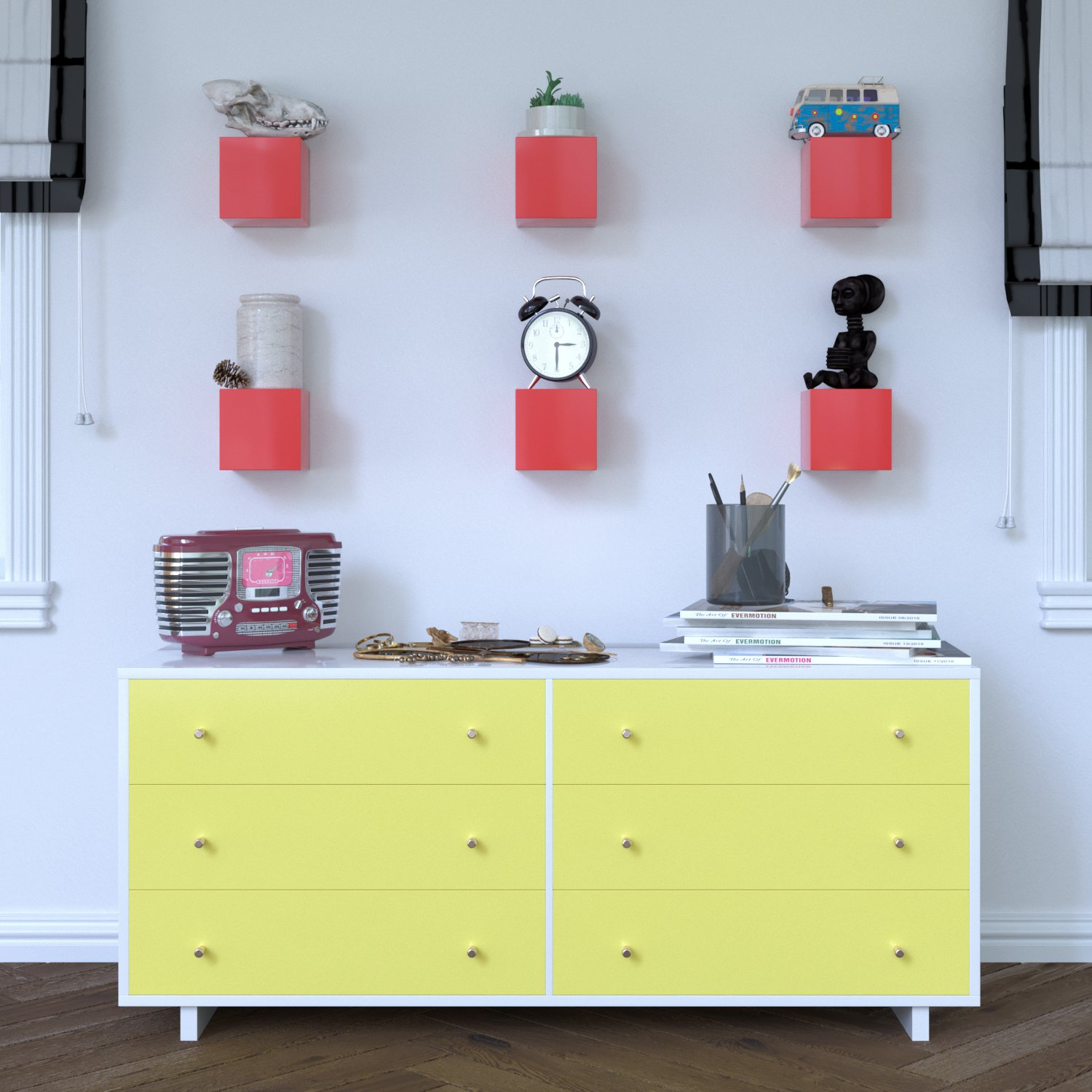Brightmaison Living Room Decorative Square Wall Cubes Floating Block