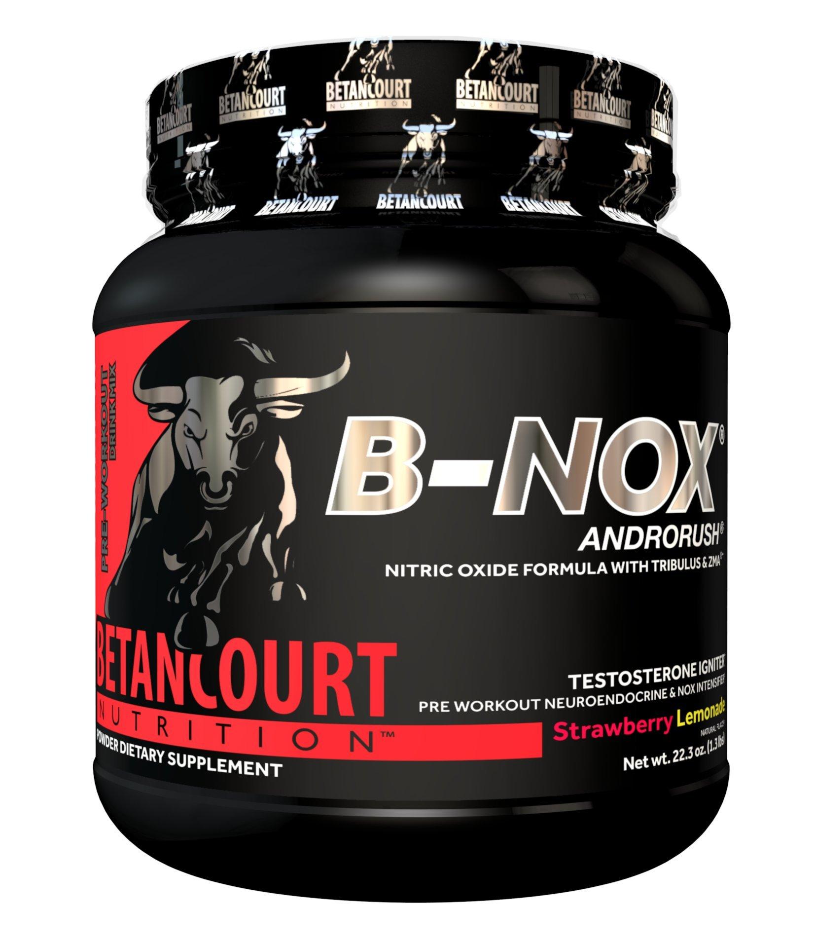 Betancourt Nutrition B-Nox Andorush Pre-Workout, Strawberry Lemonade, 22.3 Ounce by Betancourt Nutrition
