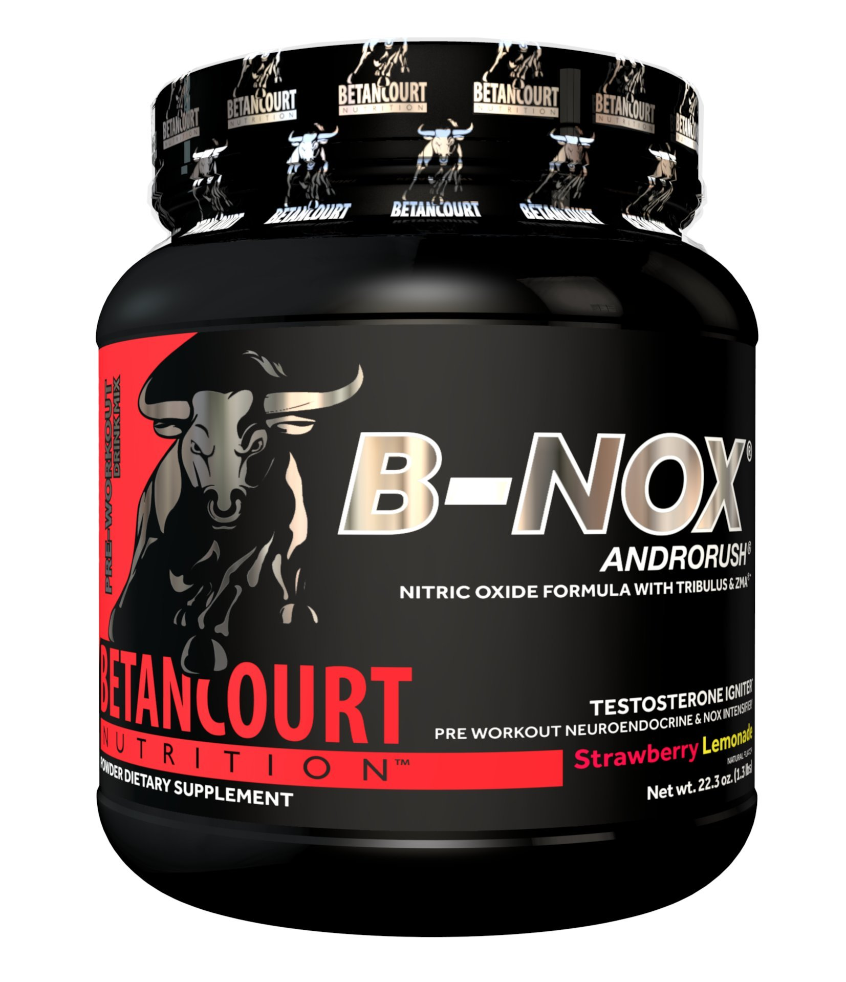 Betancourt Nutrition - B-NOX Androrush, Promotes A Better Pre-Workout By Supporting The Natural Testosterone Response To Exercise, Strawberry Lemonade, 22.3 oz (35 Servings)