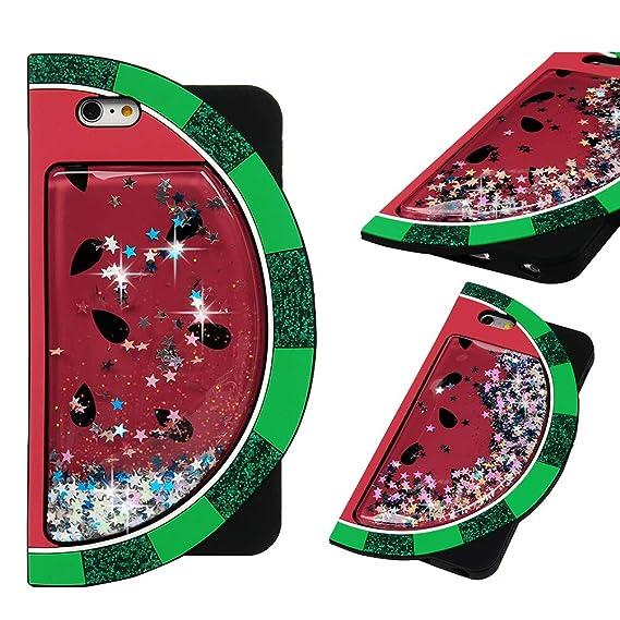 iPhone 6S Plus Case, Cartoon Liquid Glitter Case Kawaii Animals Fruit Case Bling Shiny Sparkle