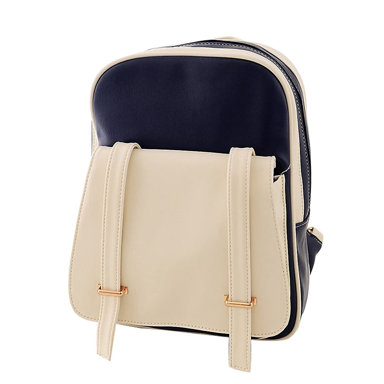 yiji Women 's Daily Use color-matching強力なバックパック  サファイア B01HBNPUOY