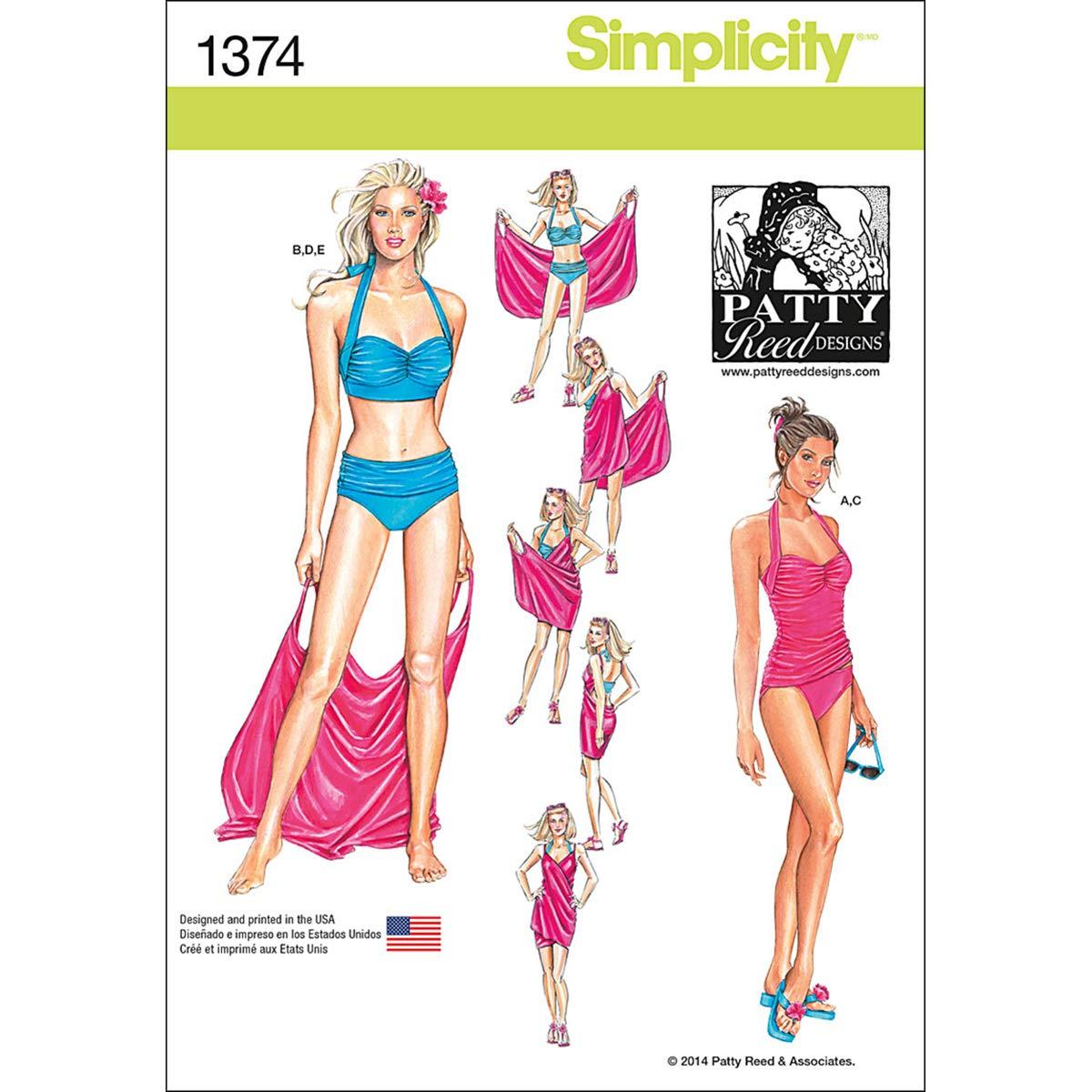 Simplicity 1374 Tamaño H5 Tallas Dos/Traje de patrón de Costura y ...