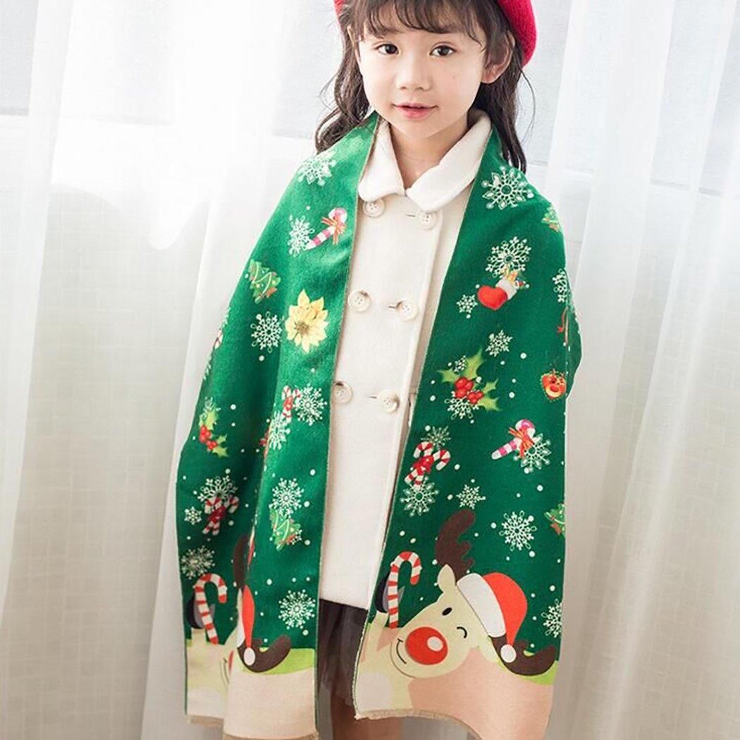 Christmas Scarves Aniwon Kids Scarves Cute Cartoon Neck Wrap Warmer Winter Neck Scarf for Christmas