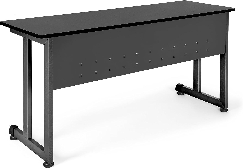 "B00171SR8I OFM Model 55141 20"" x 55"" Modular Utility and Training Table, Graphite with Black Frame 71pNJh9Kj-L"