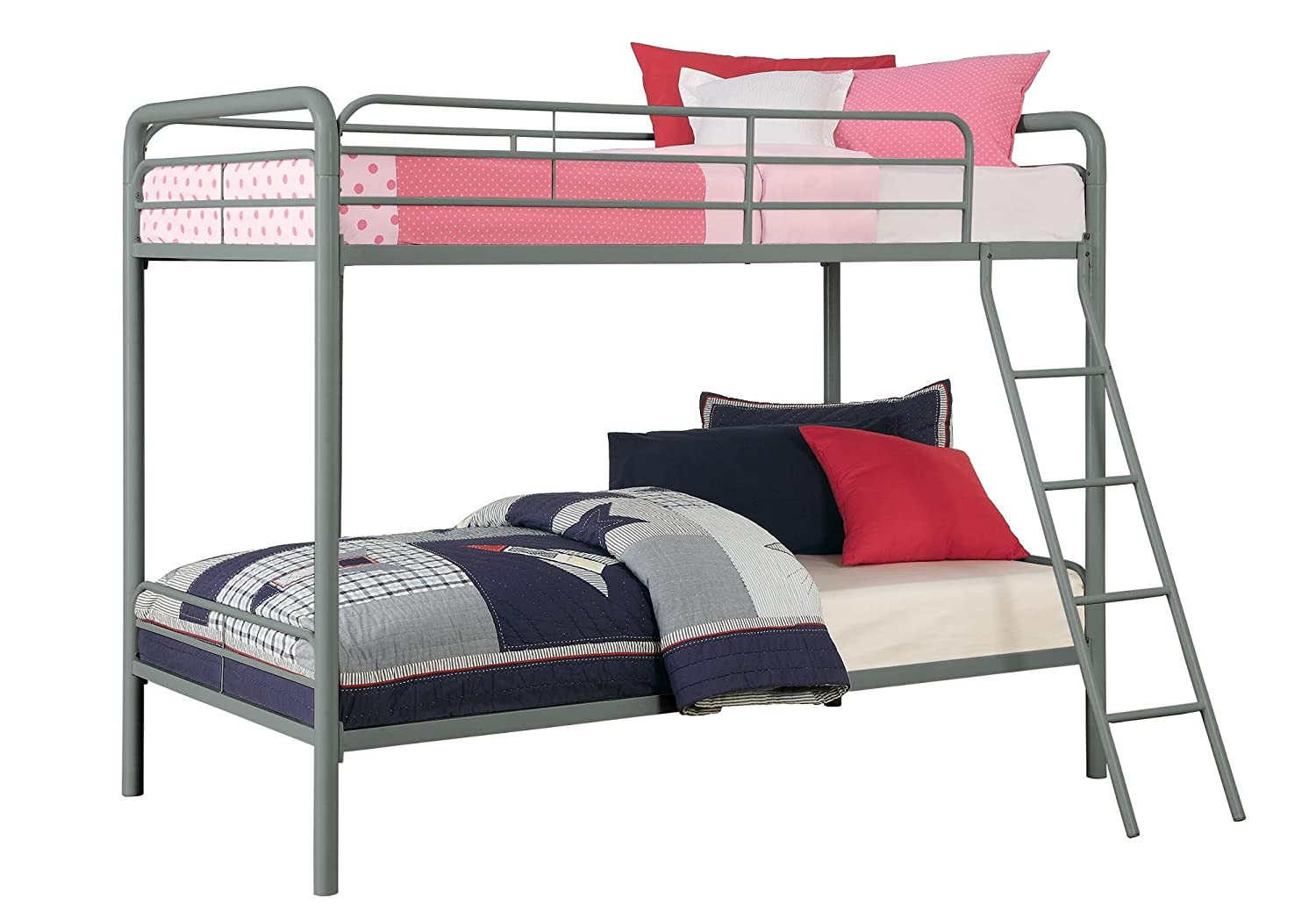 bunk bed twin over twin full frame mattress kids bedroom set stairs furniture ebay. Black Bedroom Furniture Sets. Home Design Ideas