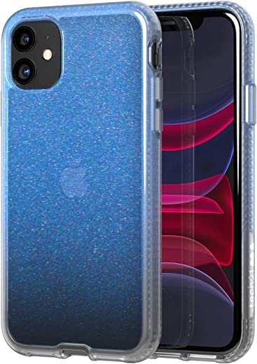 tech21 Pure Shimmer Mobile Casing - Compatible with iPhone 11 - Ultra Thin, Shimmer Effect and Drop Protection, Blue