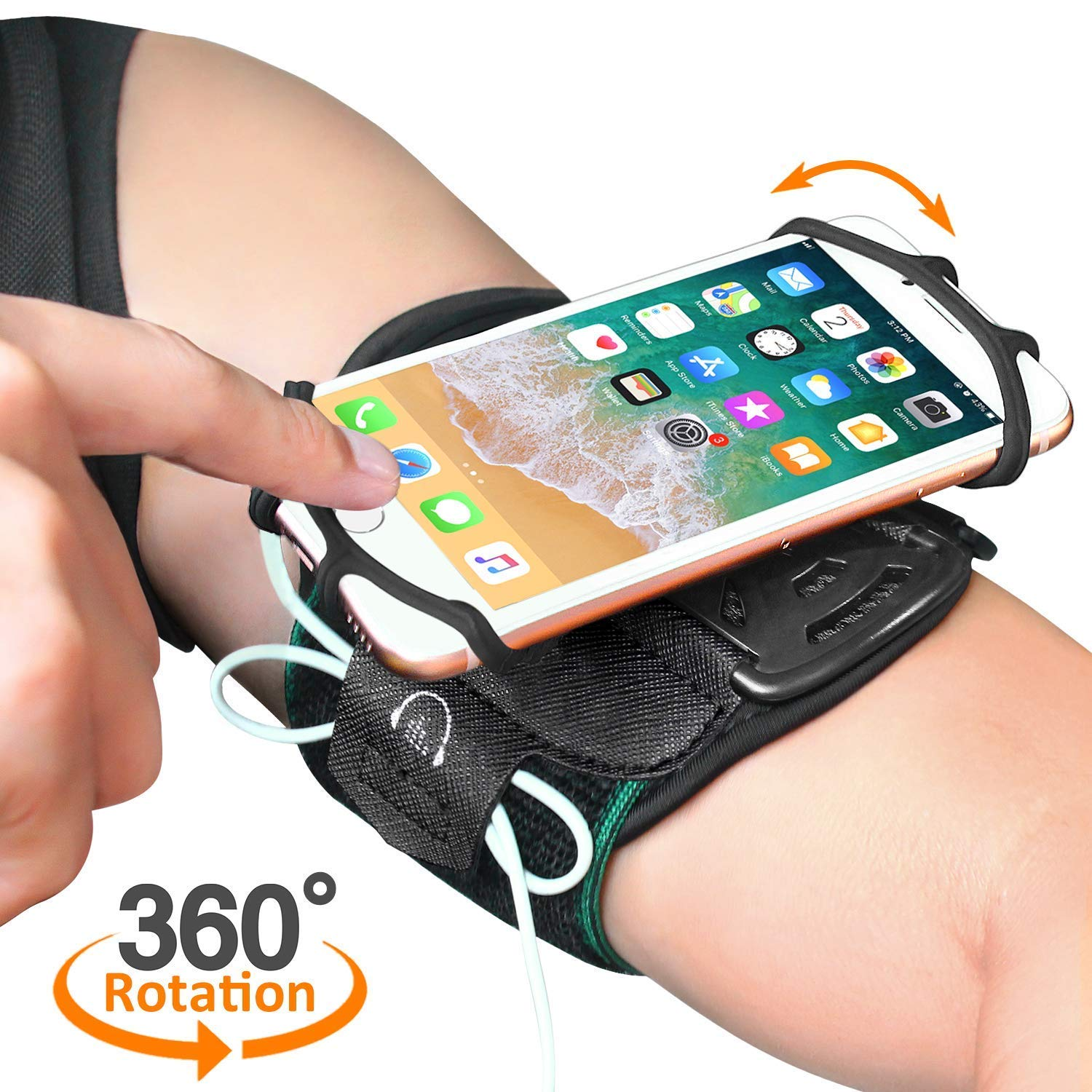 Brazalete Deportivo, MATONE Brazalete Movil Súper Transpirable para iPhone X 8 7 6S Plus,
