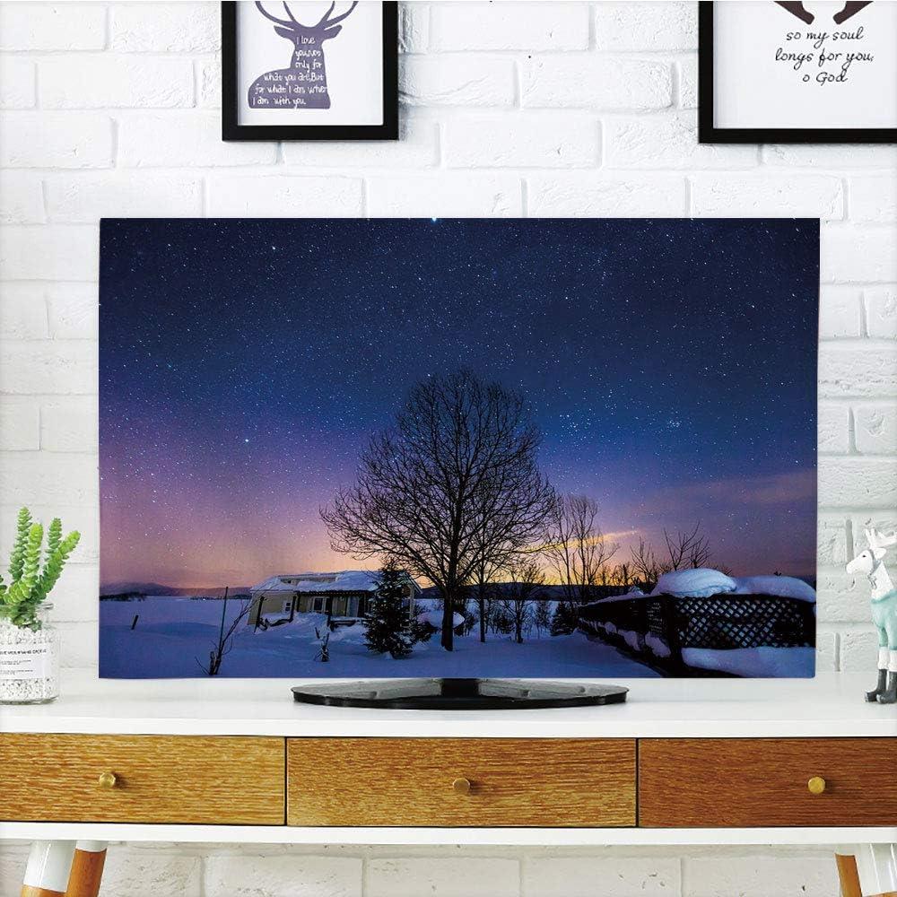 Cubierta de polvo para televisor LCD, cielo nocturno, árbol ...