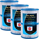 POOLPURE Bestway Spa Replacement Filter for Type VI, Coleman SaluSpa 90352E, 6 Pack