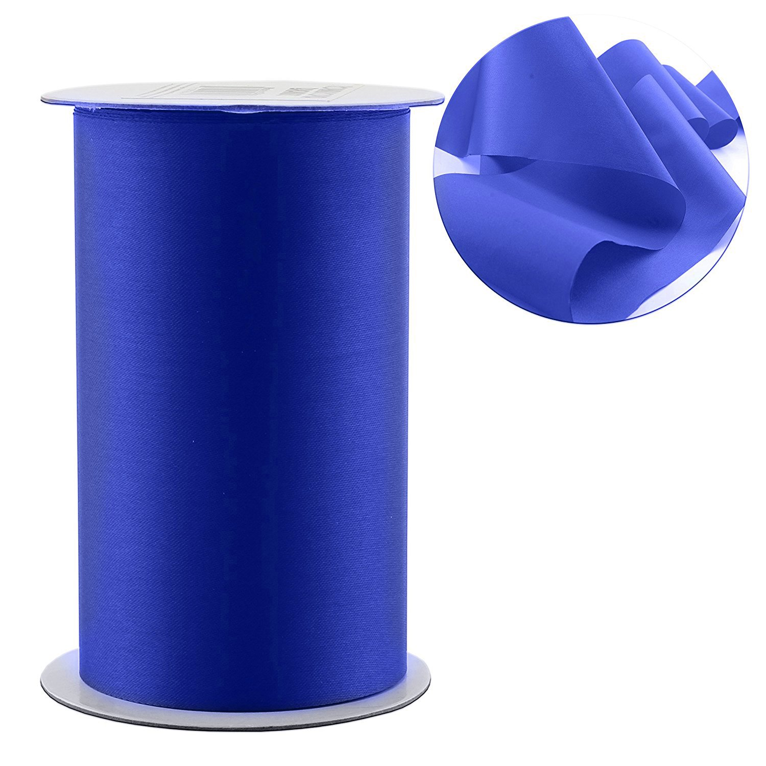 """4"""" Wide Blue Satin Ribbon for Grand Opening Ceremonies/Ribbon Cutting, Weddings, Chair Sashes, Crafts (10-Yard Spool/30 Feet), Royal Blue Solid Color Cornucopia Brands"""