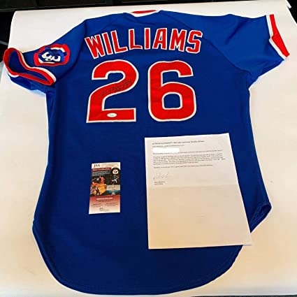 84105b8213e Image Unavailable. Image not available for. Color  Rare Billy Williams  Signed Game Used 1987 Chicago Cubs Jersey   Miedema COA - JSA Certified