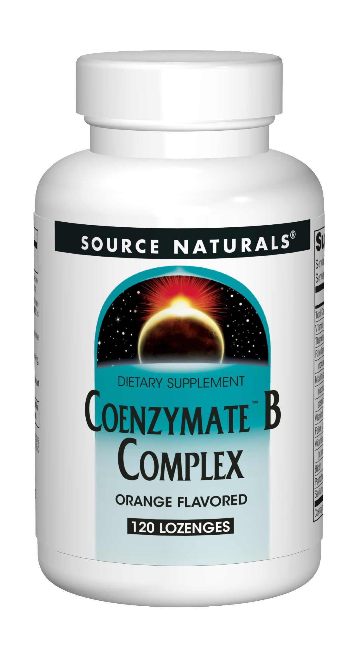 Source Naturals Coenzymate B Complex Fast Acting, Quick Dissolve Orange - 120 Lozenges