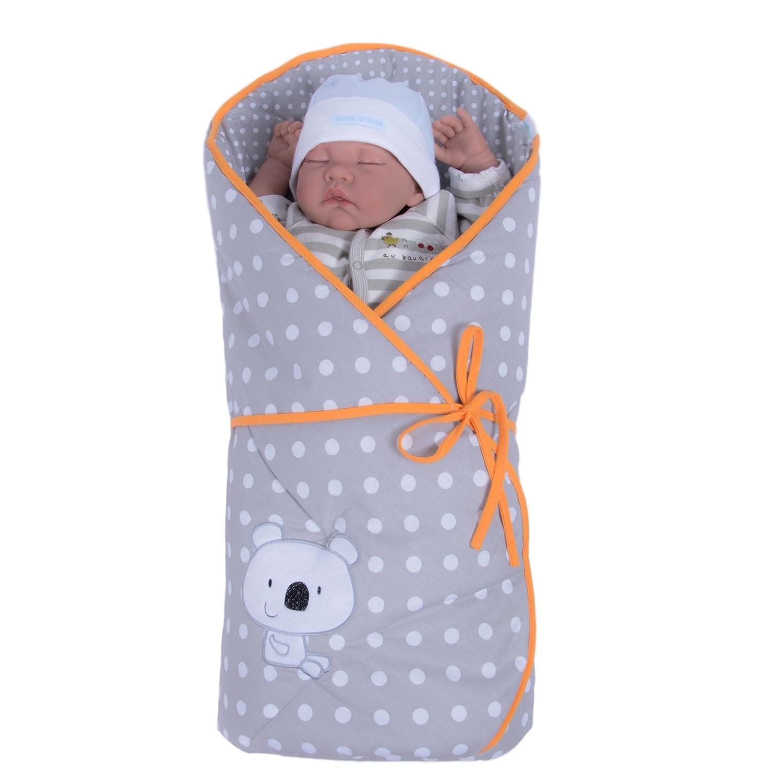 Sevira Kids - Sacco nanna multiuso 100% cotone, misura nascita, modello Koala, disponibile in vari colori NA-KOALA-BLUE