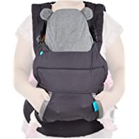 Infantino Cuddle Up Carrier - Ergonomic Bear-Themed, face-in Front Carry and Back Carry, with Removable Character Hood…