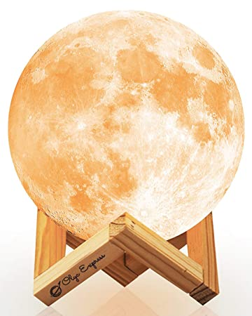 Amazon.com: Moon Lamp, OLYC 16 Colors LED 3D Print Moon ...