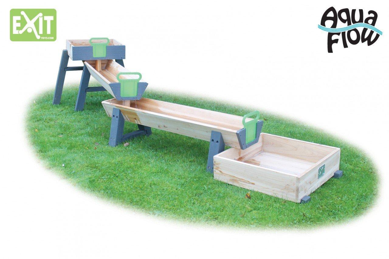 EXIT Aqua Flow Junior-Set / Wasserspielbahn mit Staubecken und Schleusen / Länge: 270 cm, Breite: 50 cm, Höhe: 56 cm / Gewicht: 18 kg