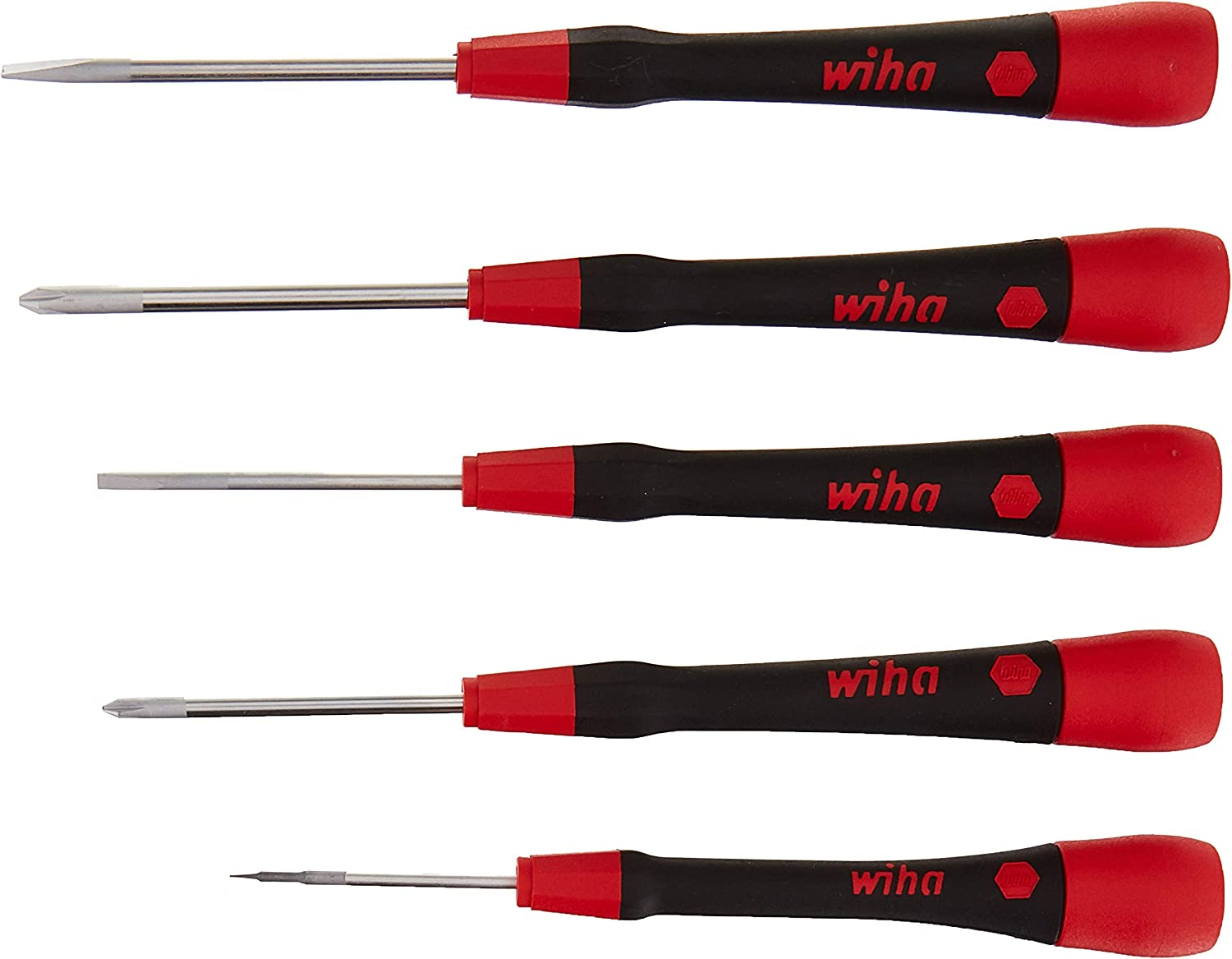 Wiha 26195 Picofinish Mini Precision Screwdriver Set, 5 Pcs