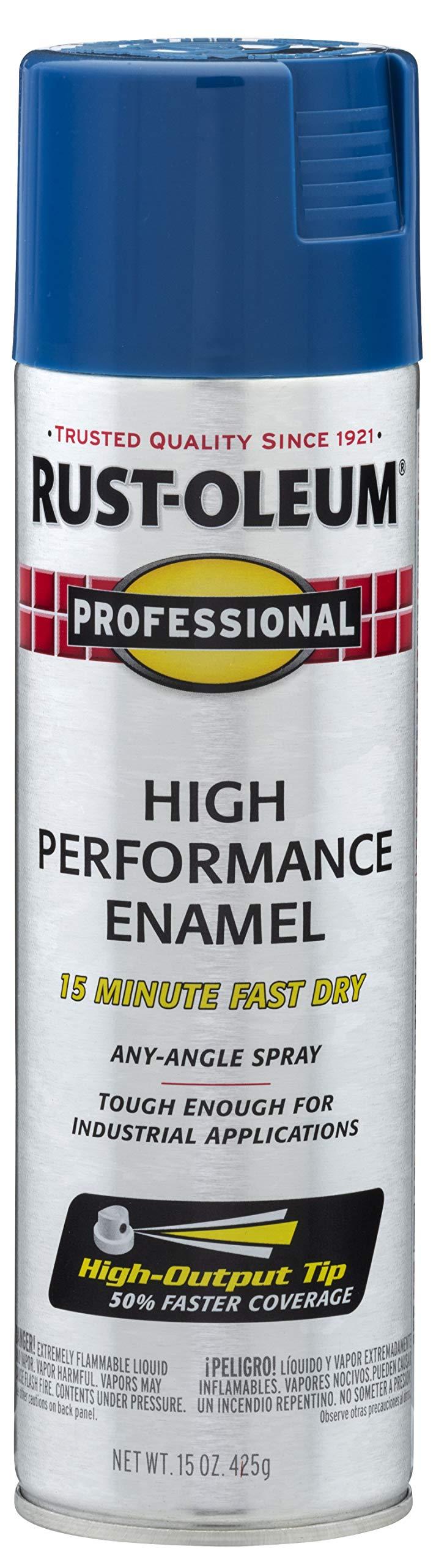 Rust-Oleum 7527838 Enamel Spray Paint, 15 Oz, Gloss Royal Blue, 15 Fl Oz