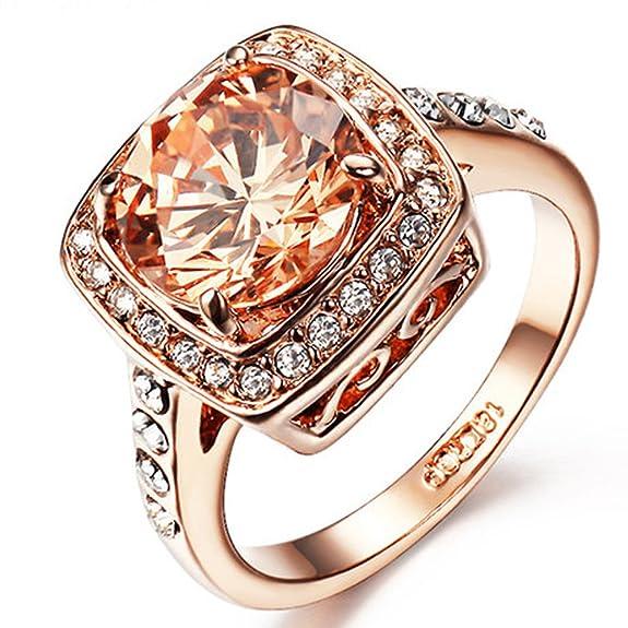 6 opinioni per Yoursfs- Anello di fidanzamento con finto diamante, 3.5ct, zirconia cubica sulle