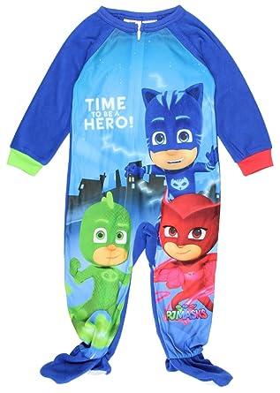 Amazon.com  PJ Masks Toddler Boy Micro Fleece Footed PJ - 5T  Clothing cbeff1a4f