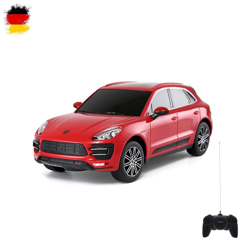 Original Porsche Macan, licencia de Auto, RC Coche Teledirigido, oficial., modelo de escala 1: 24, Ready to de Drive, Auto, incluye control remoto, ...