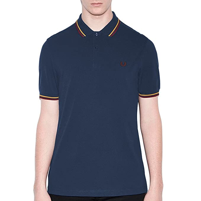Fred Perry Slim Fit doble camisa de Polo de punta Pacific XXL ...