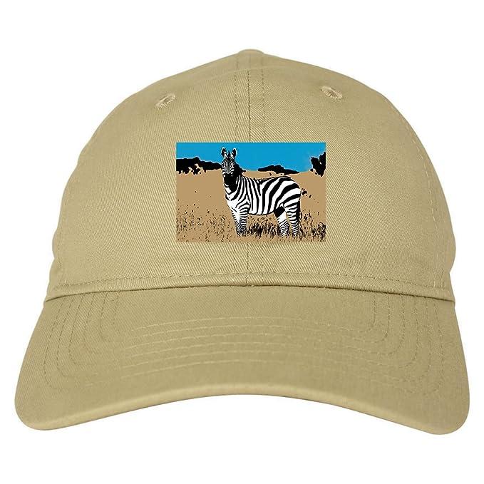 c6ba605ffdb Kings Of NY Zebra Artwork Wildlife Mens Dad Hat Baseball Cap Beige ...
