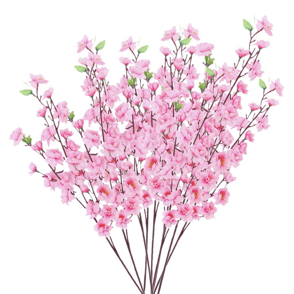 Amazon Artificial Spring Blossom Cherry Plum Bouquet Branch