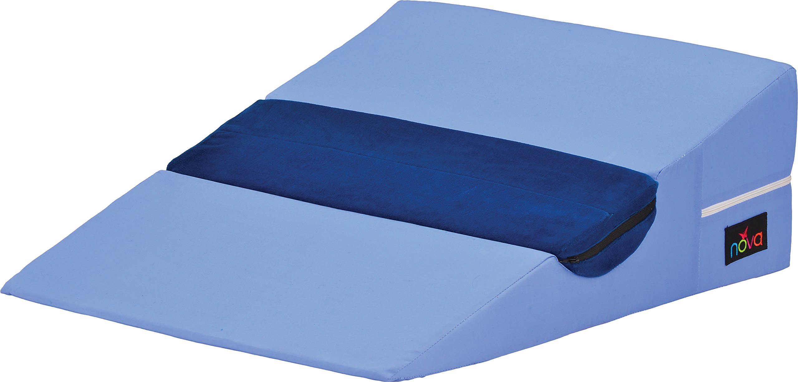 NOVA Medical Products Bed Wedge with Half Roll Pillow, Blue, 5 Pound