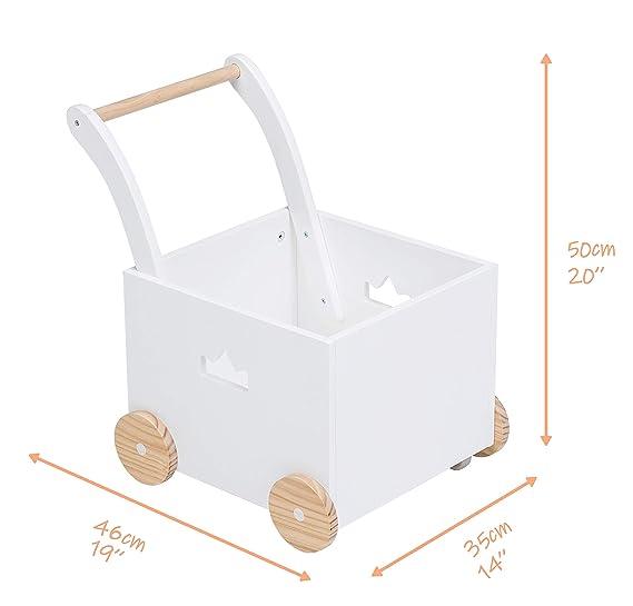Andador de Madera, Uso 2 en 1 como Andador Bebe, El diseño de ...