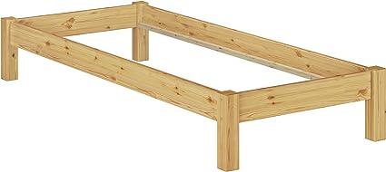 Erst-Holz Sólido Bastidor Cama futón 80 x 200 (Pino Maciza Eco no Incluidas somier y colchón 60.35 – 08 OR