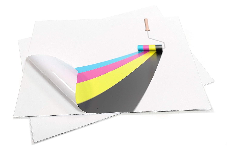 10 Sheets Premium Waterproof A4 VINYL (PVC) Matte White Self Adhesive Sticker Sheets Quality INKJET LASER Printable EVG
