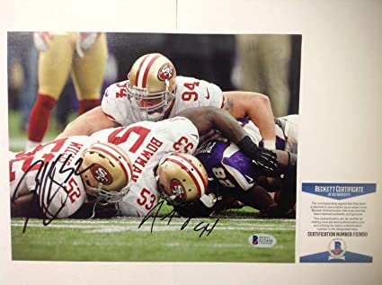 015cf984177 Image Unavailable. Image not available for. Color  Justin Smith Patrick  Willis Signed SF 49ers ...