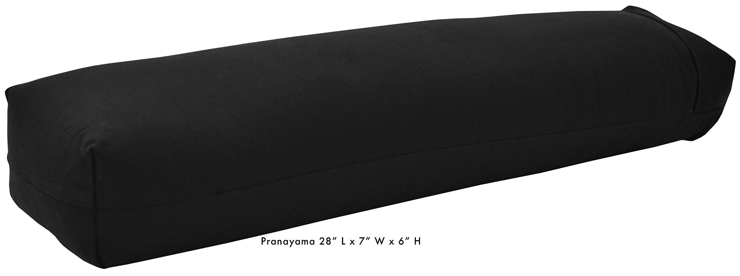 Bean Products Pranayama Yoga Bolster - Cotton - Black