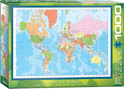 Eurographics 6000 1271 Modern Map Of The World 1000 Piece Puzzle