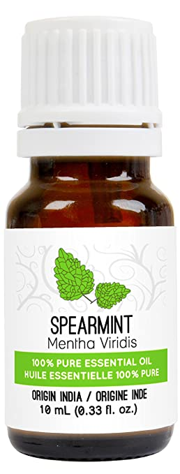 Spearmint Essential Oil 10 ml (0.33 fl. Oz.) - GCMS Tested, 100% Pure, Undiluted and Therapeutic Grade