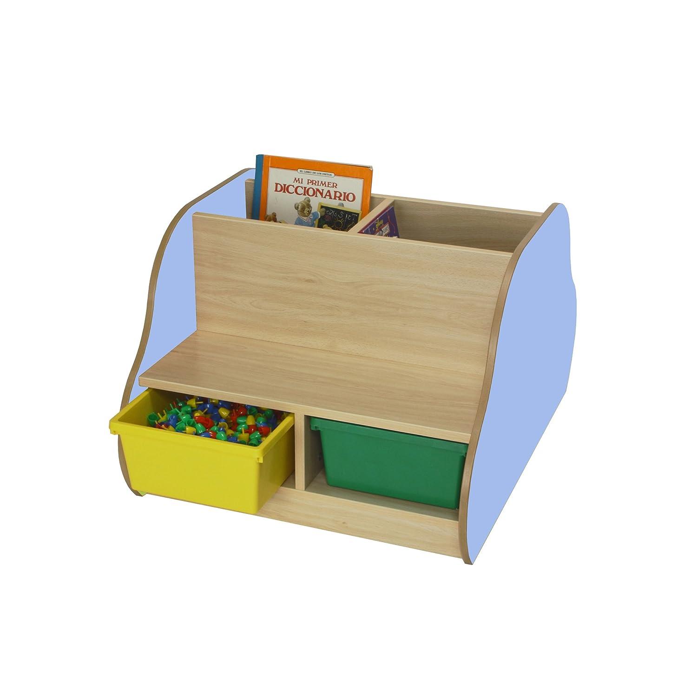 Mobeduc doppelseitig Bench für 4Kinder mit Bücherregal, Holz, Lavendel blau, 70x 54x 92cm Mobeduc_602108HP14