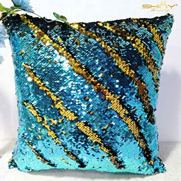 Amazon.com: ShinyBeauty - Funda de almohada decorativa con ...