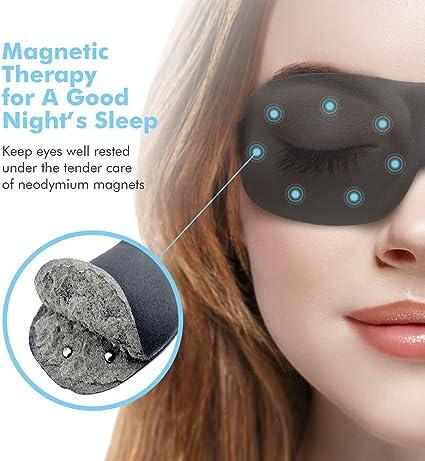 Dormir Repos PaiTree 3D Masque de Nuit en Mousse Douce /à M/émoire de forme Masque de Yeux Ergonomique Anti-lumi/ère et Anti-fatigue pour Voyage Masque de Sommeil