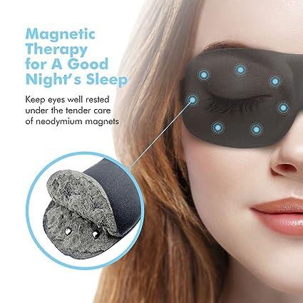 Máscara de ojo máscara de dormir, terapia magnética sueño Eye cubre dormir venda por paitree