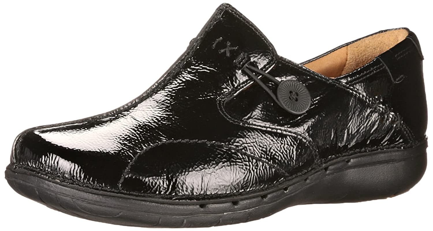 CLARKS Unstructured Women's Un.Loop Slip-On Shoe B00KUHO7ZW 9 2A(N) US|Black Patent