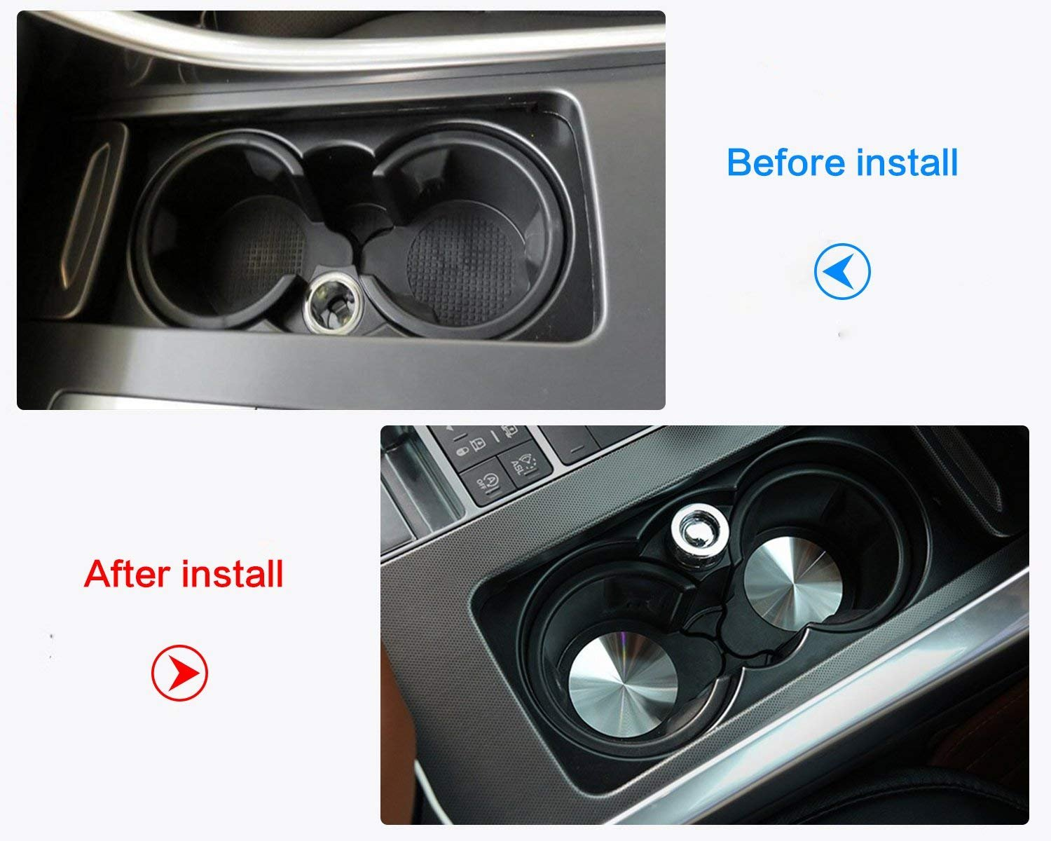 Universal Accessories Car Cup Holder Mat Car Interior Styling
