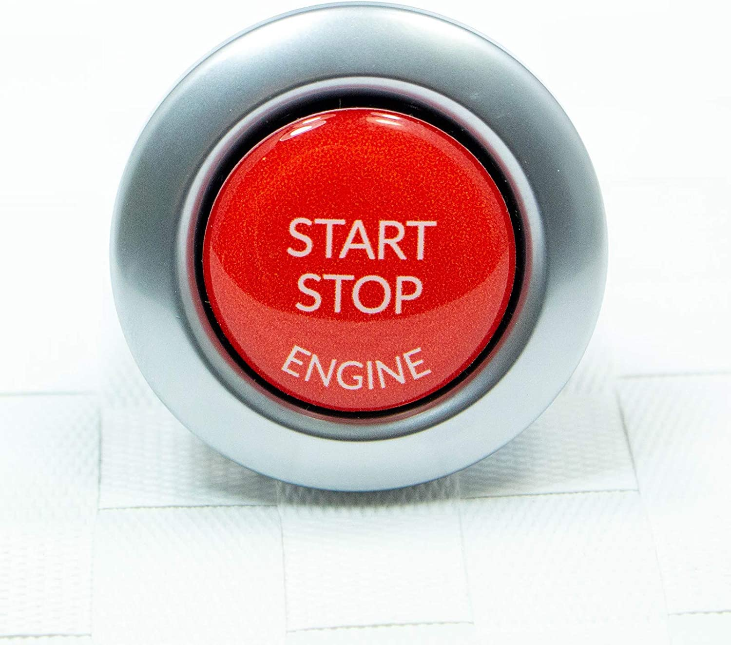 Start Stop Engine Button 1 Piece Sticker Repair Switch Protection Cap Replacement Button Button Cover Ignition Key Cover Ignition Red Auto