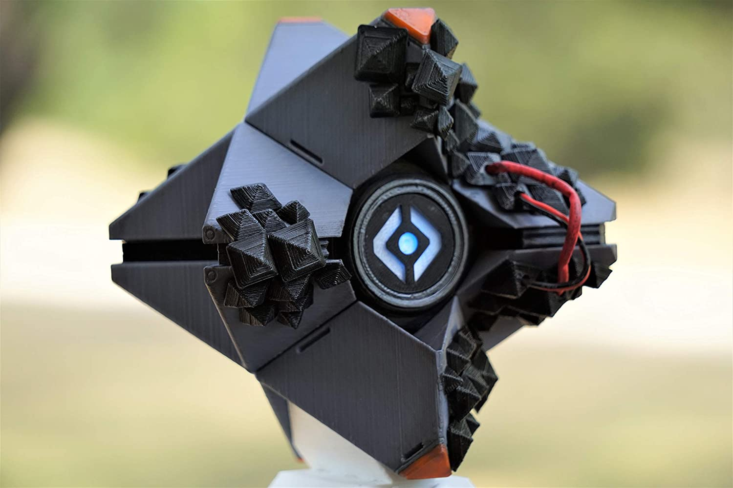 SIVA Destiny Ghost Life Size Fully Assembled Replica Pro with LED Light 3D Printed Display Stand Included