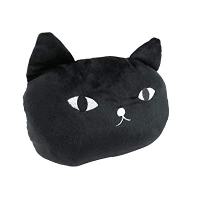 Plush Cat Animal Pillow Stuffed Pad Car Sofa Chair Bed Cushion 10 x 9 Inches Black: Home & Kitchen