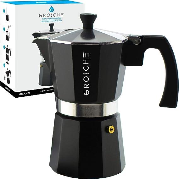 GROSCHE Charcoal Milano Stovetop Espresso Maker