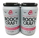 Boochcraft, Kombucha Hard Grapefruit Hibiscus, 4pk, 12 Fl Oz Cans